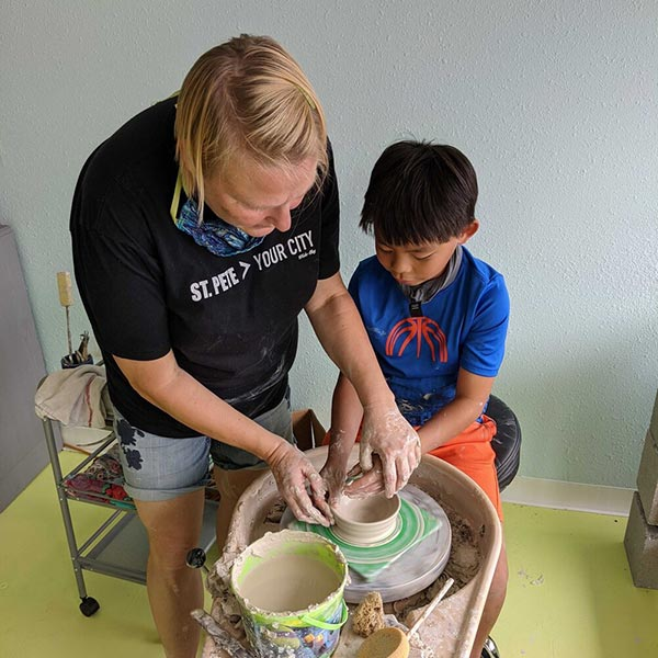 pottery classes for all ages in St. Petersburg Florida